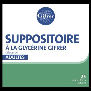 Suppositoire A La Glycerine Adulte X 25