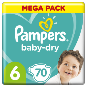 Couche Baby Dry Mega Pack Taille 6 X 76