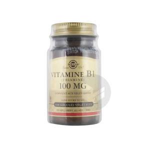Vitamine B 1 Thiamine 100 Mg 100 Gelules Vegetales