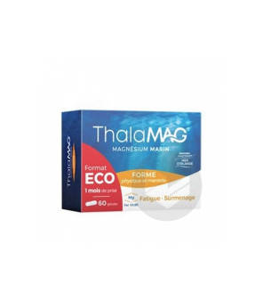 Thalamag Forme Physique Mentale Magnesium Marin Fer Vitamine B 9 60 Gelules