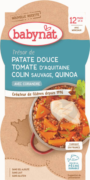 Babynat Bol Patate Douce Tomate Colin Quinoa Coriandre