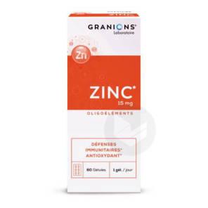 Zinc 15 Mg Immunite Antioxydant Peau Cheveux 60 Gelules