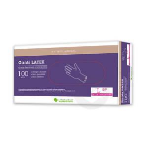 Gant Latex Non Poudre Large X 100