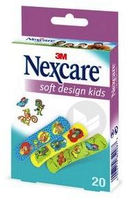 Nexcare Soft Kids Boite De 20 Pansements Pour Enfants