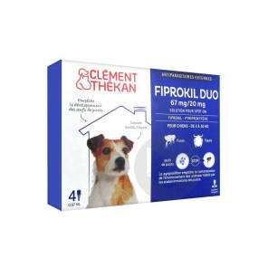 Fiprokil Duo Solution Pour Spot On Chien 2 10 Kg 4 Pipette 0 67 Ml