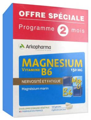 Magnesium Vitamine B 6 150 Mg 120 Gelules Offre Speciale