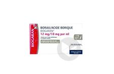 Borax Acide Borique Biogaran 12 Mg 18 Mg Ml Solution Pour Lavage Ophtalmique En Recipient Unidose 20 Recipients Unidose
