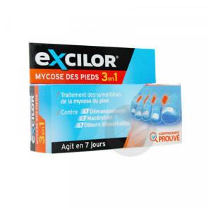 Excilor Mycose Pied 3 En 1
