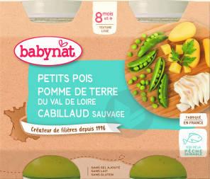 Babynat Pot Petits Pois Pomme De Terre Cabillaud