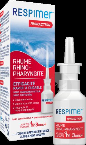 Rhinaction Spray Nasal Eau De Mer Hypertonique 20 Ml