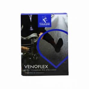 Chaussette Venoflex City Classe 2 Homme Fil D Ecosse Noir Longueur Normale Taille 2