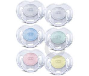 Lot De 2 Sucettes Transparentes 0 6 Mois Transparentes Ou Bleu Vert Ou Rose Jaune