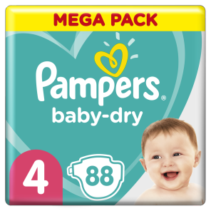 Couche Baby Dry Mega Pack Taille 4 X 88
