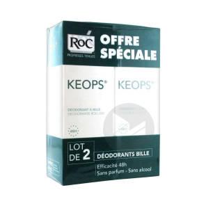 Keops Deodorant Sans Alcool 2 Billes 30 Ml