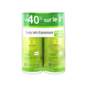 Deodorant Au Citrus Roll On 24 H Lot De 2 X 50 Ml