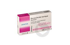 Borax Acide Borique Zentiva 12 Mg 18 Mg Ml Solution Pour Lavage Ophtalmique En Recipient Unidose 20 Recipients Unidose De 5 Ml