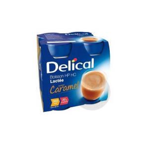 Delical Boisson Hp Hc Lactee Nutriment Caramel 4 Bouteilles 200 Ml
