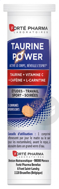 Energie Taurine Power 15 Comprimes