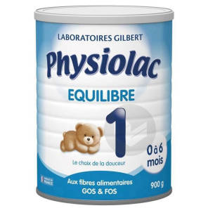 Physiolac Equilibre 1 0 A 6 Mois 900 G