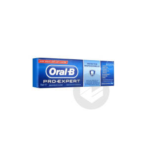 Oral B Pro Expert Professional Dentifrice Menthe Extra Fraiche Protection Gencives T 75 Ml