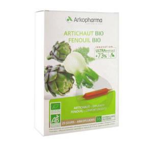 Arkofluides Artichaut Fenouil Bio 20 Ampoules