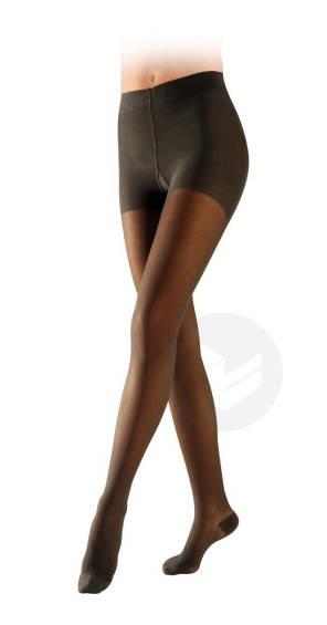 Collant Semi Transparent Classe 2 Noir Longueur Normale Taille S