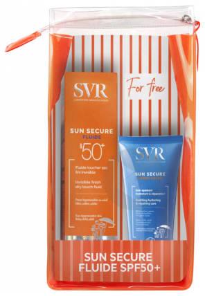 Coffret Sun Secure Spf 50 Fluide Apres Solaire Offert 2 X 50 Ml