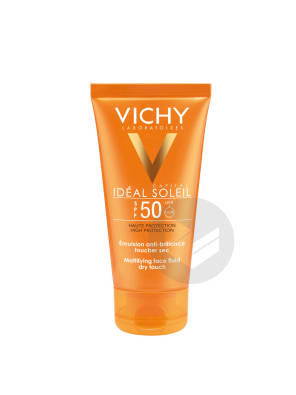 Ideal Soleil Emulsion Toucher Sec Spf 50 Tube 50 Ml