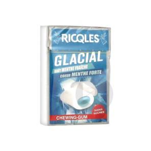 Ricqles Glacial Chewing Gum Sans Sucres Gout Menthe Fraiche Coeur Menthe Forte 21 2 G