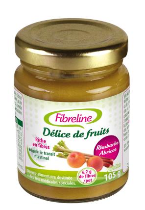 Fibreline Delice De Fruits Rhubarbe Abricot