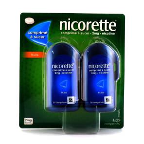 Nicorette Fruit 2 Mg 4 X 20 Comprimes A Sucer