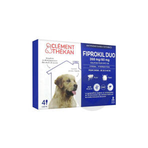 Fiprokil Duo Solution Pour Spot On Chien 20 40 Kg 4 Pipette 2 68 Ml