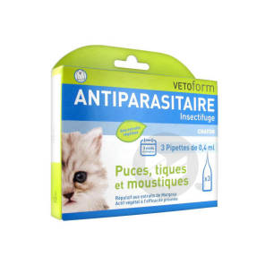 Antiparasitaire Insectifuge Chaton 3 Pipettes