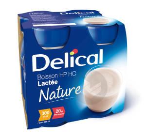 Delical Boisson Hp Hc Lactee Nutriment Cafe 4 Bouteilles 200 Ml