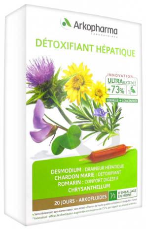 Arkofluides Detoxifiant Hepatique 20 Ampoules