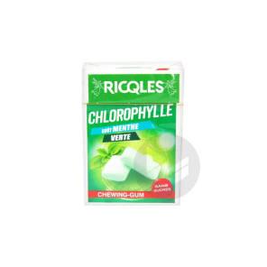 Ricqles Chewing Gum Chlorophylle Sans Sucres Gout Menthe Verte 29 2 G
