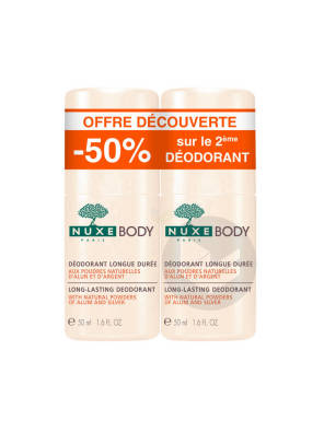Body Deodorant Longue Duree 2 Roll On 50 Ml