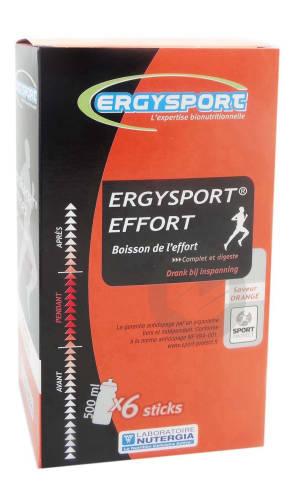 Ergysport Effort Pdr Pour Boisson Orange 6 Sticks