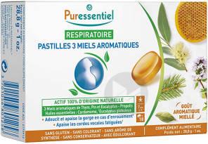 Respiratoire Pastilles 3 Miels Aromatiques