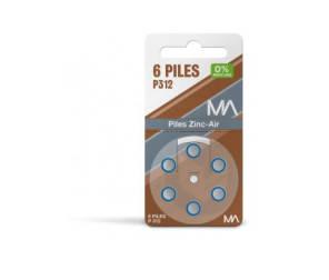 Piles P 312 Plaquette De 6