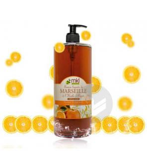 Savon Liquide De Marseille Argan Orange Miel Mkl 1 L