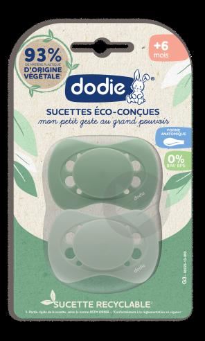 Sucette Anatomique Eco Concue 6 Mois Duo Vert G 3