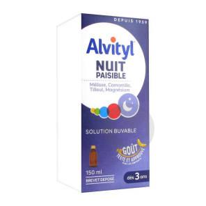 Alvityl Nuit Paisible S Buv Banane Fl 150 Ml