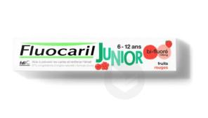 Fluocaril Junior Dentifrice Fruits Rouges 6 12 Ans T 75 Ml
