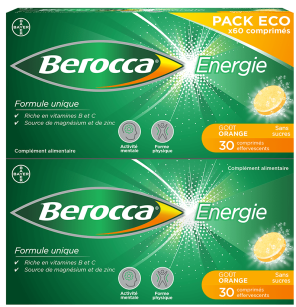Energie Orange 60 Comprimes Effervescents Gout Orange