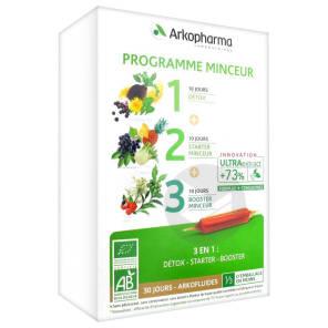 Arkofluide Bio Ultraextract Coffret Programme Minceur 3 X 10 Amp 10 Ml