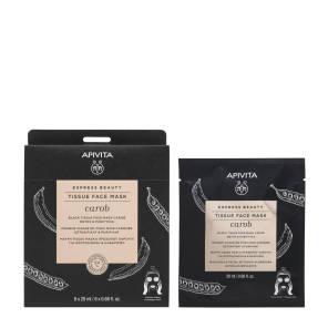 Masque Visage En Tissu Noir Detox Purifiant A La Caroube 20 Ml