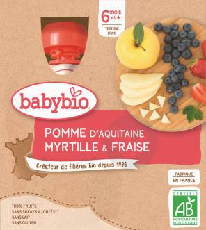 Gourde Pomme Myrtille Fraise