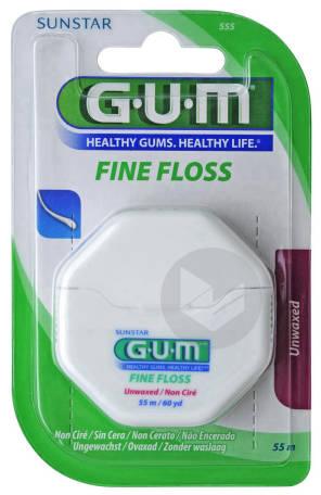 Fil Dentaire Fine Floss Cylindrique Non Cire 55 M