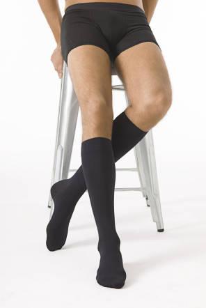 Chaussettes Microfibre Classe 2 Homme Noir Longues Taille L